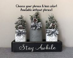 Excited to share this item from my shop: Christmas Centerpiece for Dining Table, Mason Jar Centerpieces, Farmhouse Christmas Decor, Winter Decorations, Rustic Christmas Decorations Christmas Table Centerpieces, Mason Jar Centerpieces, Christmas Decorations, Dining Centerpiece, Handmade Decorations, Mason Jar Crafts, Mason Jar Diy, Bottle Crafts, Farmhouse Christmas Decor