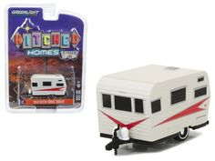1959 Holiday House Pink Chrome HITCHED HOMES GREENLIGHT DIECAST 1:64 TRAILER