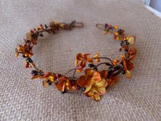 fall wedding hair accessories copper orange bridal by thehoneycomb