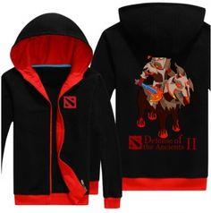 DOTA 2 herói camisola de lã para os homens Chaos Cavaleiro 3XL fecha acima hoodies