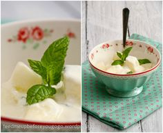 Melon-ginger-salad with mint yoghurt // feed me up before you go-go