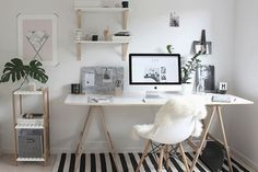 Home Office Decor. Office at home and home study design and style choices, which include suggestions for a smaller room space, desk suggestions, cool layouts, and units. Create a workplace for your home that you will never mind getting work finished in. 39441566 5 Home Office Decorating Ideas