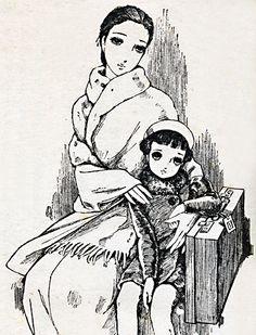 中原淳一 : 川端康成「美しい旅」挿絵 Nakahara Junichi : 'Utsukushii Tabi' by Kawabata Yasunari / Shoujo no Tomo, Dec.1939