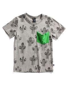 Minti Cactus Pocket Tee - Cactus Yardage