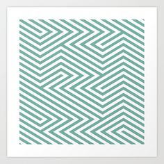 chevron 9 Art Print by Nicoleap | Society6
