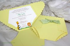 Diaper Baby Shower Invitation or Baby Announcement - Jungle theme. $4.00, via Etsy.