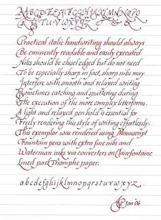 Italic Handwriting Basics - Techniques & Methodologies