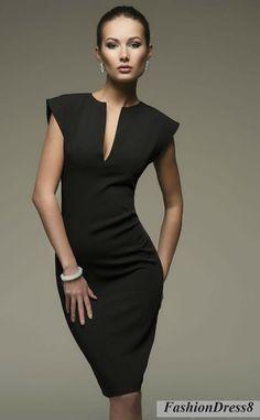 Little Black Dress Sexy Woman Dress Pencil V by FashionDress8