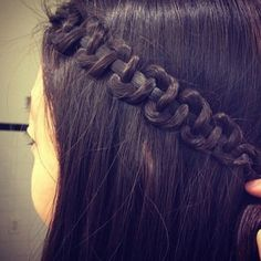 So easy! YouTube Snake braid tutorials! ;)