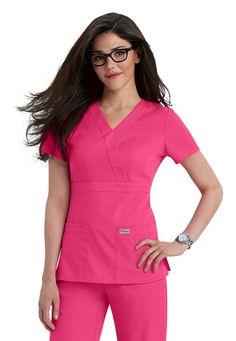 Greys Anatomy 3-pocket mock-wrap scrub top | Scrubs and Beyond