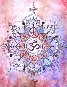 $30.00 Yoga Art - Shanti - Mandala Print - Crown Chakra Painting - Spiritual art - Buddhist art - Om painting - Namaste - Meditation Art - Bestie.com