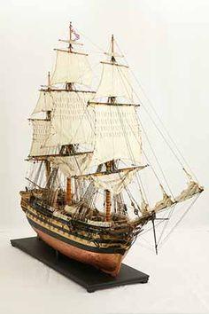 Ship model HMS Wellesley of Tall ship Real Pirate Ships, Scale Model Ships, Scale Models, Model Sailing Ships, Model Ship Building, Ship Drawing, Model Hobbies, Wooden Ship, Tall Ships