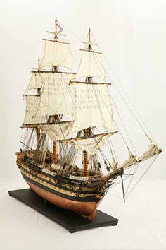 Ship model HMS Wellesley of 1815