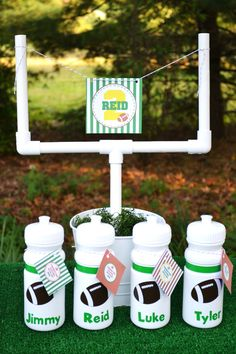 Football birthday party favors... Could do in different designs for different themes.