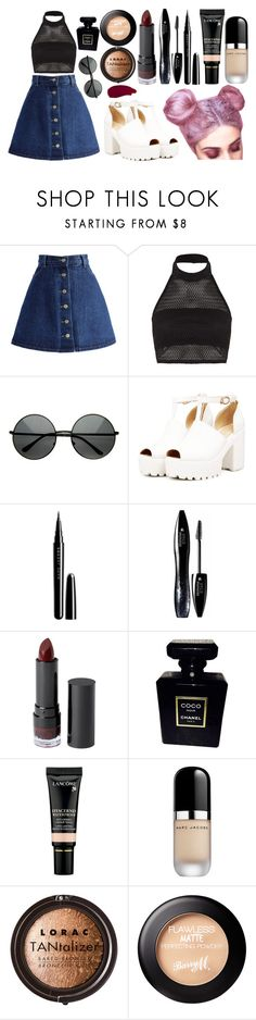"""Outer Space // Carry On"" by marymh ❤ liked on Polyvore featuring Chicwish, Boohoo, Marc Jacobs, Lancôme, Monki, Chanel, LORAC, Barry M and Ellis Faas"