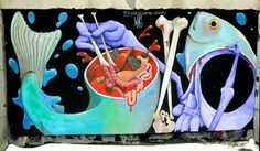 Marc andré Guidère - street art montreal - ste catherine / hotel de ville mars 2015