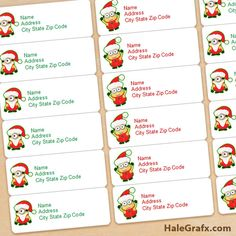 FREE Printable Christmas Minions Address Labels