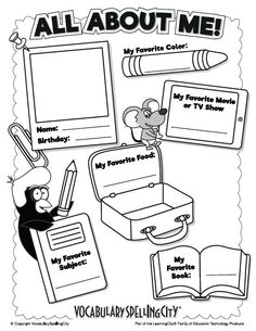 Back-to-school All About Me activity. Welcome students with this back-to-school printable that allows them to share fun facts about themselves and learn more about their classmates. Back To School Worksheets, Back To School Activities, Welcome Back To School, Back To School Crafts, Welcome Students, New Students, All About Me Activities, Learning Activities, Handwriting Practice Worksheets