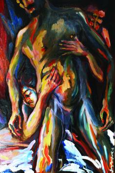 Questo è il mio sangue - olio su tela - 120x80 cm - NON IN VENDITA - collezione privata ° #HadafTeam
