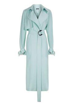 Get the Look: Jennifer Lopez's New York City $169 AQ/AQ Mint Trench and $971 Roland Mouret Sheath Dress