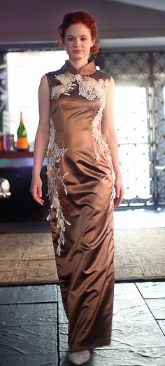 A couture quality, custom made qipao at She Will Be Loved - Kelima K