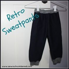 FREE boys pattern - Retro Sweatpants