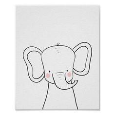 Elephant Nursery Print Black white modern Safari A wonderful addition to your little one s nursery decor A cute elephant illustration in black and white for your monochrome nursery Lion Nursery, Safari Nursery, Animal Nursery, Nursery Prints, Elephant Nursery Decor, Nursery Paintings, Nursery Drawings, Elephant Art, Cute Elephant