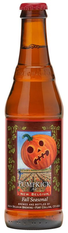 Pumpkick Beer Ale Brewed with Pumpkin Juice, Cranberry Juice and Spices. New Belgium's Fall seasonal