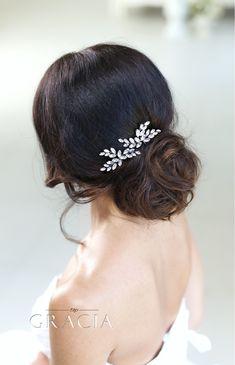 HERMIONE Crystal Bridal Hair Pins Wedding Rhinestone Hair Jewelry Hairpins by TopGracia #topgraciawedding #bridalhairaccessories #weddinghairpins #crystalheadpiece
