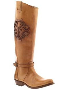 Great Frye detail on these rider logo boots