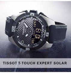L'unico con tecnologia tattile e funzionamento con energia solare!  Tissot touch expert...il futuro è svizzero! http://www.gioielleriagigante.it/categoria-prodotto/orologi/tissot/uomo-tissot/