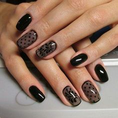 80 Incredible Black Nail Art Designs for Women and Girls Nageldesign # Black Nails With Glitter, Glitter French Manicure, Black Acrylic Nails, Black Nail Art, Glitter Nails, Matte Nails, French Manicures, Glitter Uggs, Glitter Wine