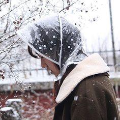 DOT HOOD Rain bonnet rain hood rain hat Rain Hair Wet Bonnet WATERPROOF  Kawaii kitsch 50 s 7470a9ec9b31