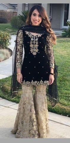 Are you looking for quality Elegant Design Indian Saree something like Saree plus Latest Elegant Designer Sari Blouse if so then Click VISIT link above for more info Pakistani Formal Dresses, Pakistani Wedding Outfits, Pakistani Dress Design, Pakistani Couture, Indian Dresses, Indian Outfits, Pakistani Sharara, Sharara Suit, Walima