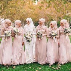Charming Muslim Wedding Bridesmaid Dresses 43 For Tea Length with regard to Beautiful Muslim Wedding Bridesmaid Dresses Muslim Wedding Gown, Muslimah Wedding Dress, Muslim Wedding Dresses, Muslim Brides, Wedding Hijab, Wedding Bridesmaid Dresses, Muslim Girls, Muslim Women, Bridesmaid Dress Colors