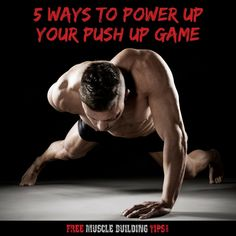 5 ways to do pushups that build a massive chest. Best Chest Workout, Six Pack Abs Workout, Chest Workouts, Dumbbell Workout, Best Muscle Building Workout, Muscle Building Workouts, Bicep Muscle, Fitness Gadgets, Workout Plan For Beginners