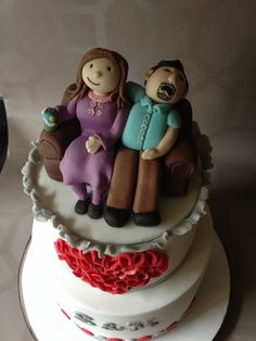 Couple fondant models