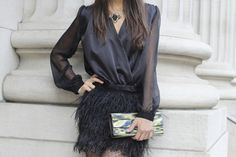 love the feathered skirt!!!