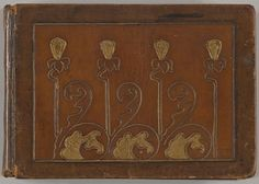 Decorative cover of a small album of Art Nouveau jewellery designs (1899–1900) by Edgar Gilstrap Simpson (1867–1945). Cover designed and bound in tooled leather byEdgar Gilstrap Simpson himself.Image and text courtesy The Metropolitan Museum of Art.