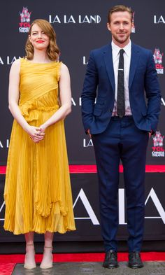 Emma Stone and her co-star Ryan Gosling