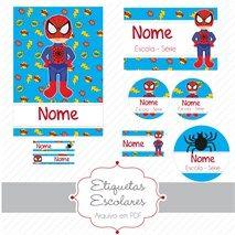 Etiquetas Escolares - Homem Aranha (arquivo digital)