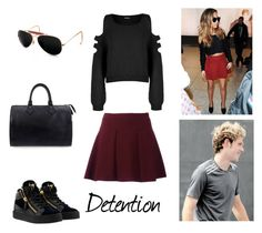 """""""3.1"""" by ronniebenett ❤ liked on Polyvore featuring Little Me, WearAll, Giuseppe Zanotti, Ray-Ban and Louis Vuitton"""