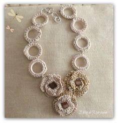 collana di cotone lavorata crochet
