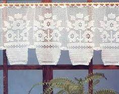 Resultado de imagem para cortinas de croche