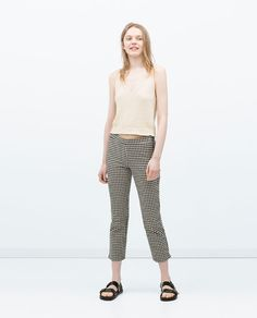 Image 1 of GINGHAM TROUSERS from Zara