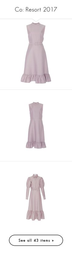 """Co: Resort 2017"" by livnd ❤ liked on Polyvore featuring co, resort2017, dresses, frill dress, purple dress, knee-length dresses, purple sleeveless dress, mock neck dress, flounce dress and flounce hem dress"