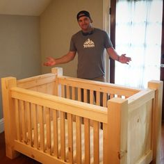 My rustic homemade diy baby crib for our dudes mountain ski themed nursery – Baby Cribs – Babyfotos Baby Crib Diy, Baby Boy Nursery Decor, Baby Room Diy, Nursery Crib, Baby Boy Rooms, Baby Room Decor, Baby Boy Nurseries, Nursery Themes, Baby Cribs