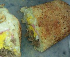 Rocambole de batata recheada com queijos e carne moída na Fritadeira sem óleo AirFryer
