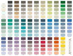 Krijtverf - prachtige kleuren.  Dekkende krijtverf met een fluweelachtige, matte uitstraling. Ideaal voor het gebruik op muren & meubels.