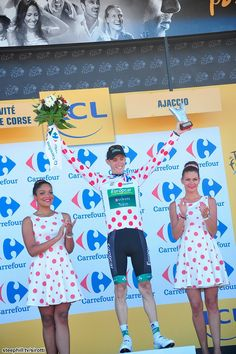 Pierre Rolland (Europcar)  in Polka Dot Jersey 2013 Tour de France